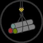 icon simple crane lift