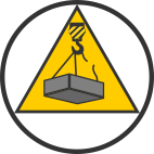 icon simple safe lifting operation